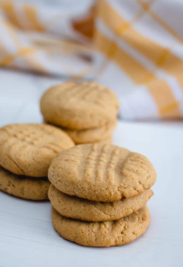 Keto Low Carb 4 Ingredient Peanut Butter Cookies Recipe