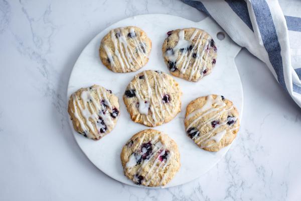 Keto Blueberry Streusel Cookies
