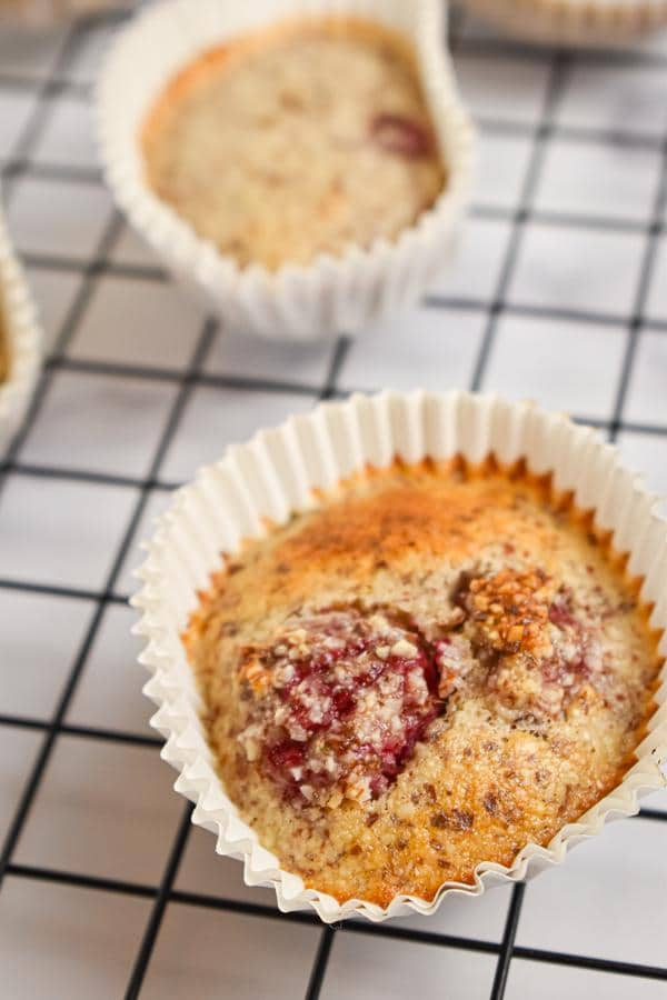 Keto Low Carb Raspberry Muffins
