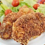 EASY Keto Air Fryer Parmesan Crusted Pork Chops - Low Carb Air Fryer Recipe - Dinner - Lunch