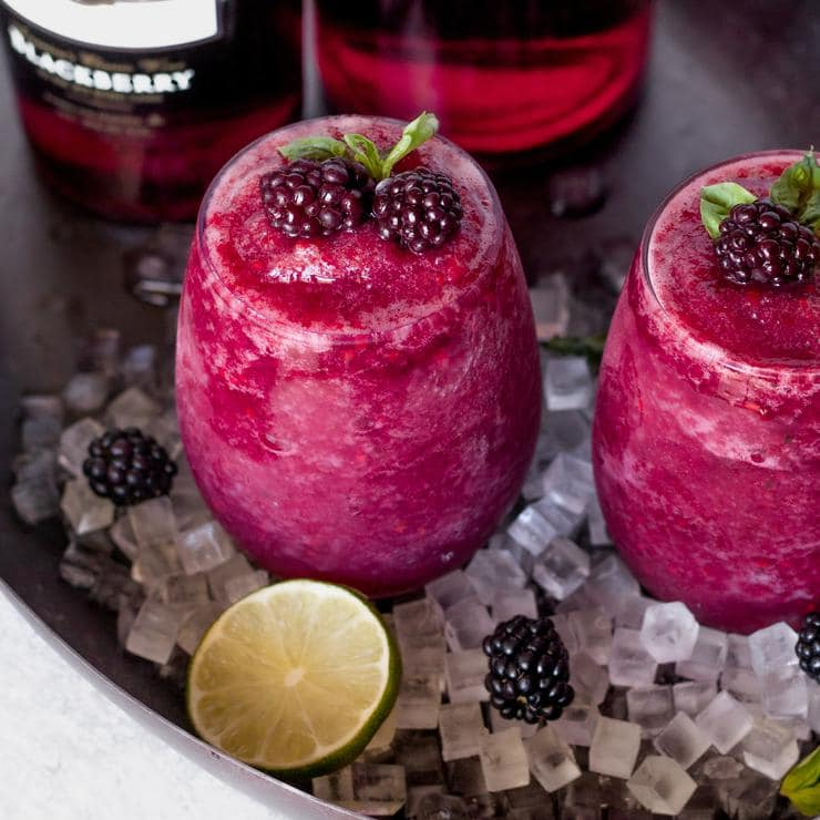 Wine Slushie Recipe! Easy Wine Slushie – How To Make Quick and Healthy Blackberry Alcohol Wine Slushies – Red Wine Frozen Slushie