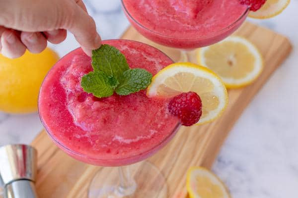 Alcohol Drinks Frozen Raspberry Margarita
