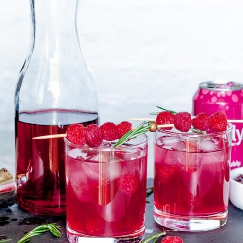 Alcoholic Drinks – BEST Sparkling Raspberry Vodka Recipe – Easy and Simple Vodka Cocktail – How To Make Homemade Alcohol Cocktails