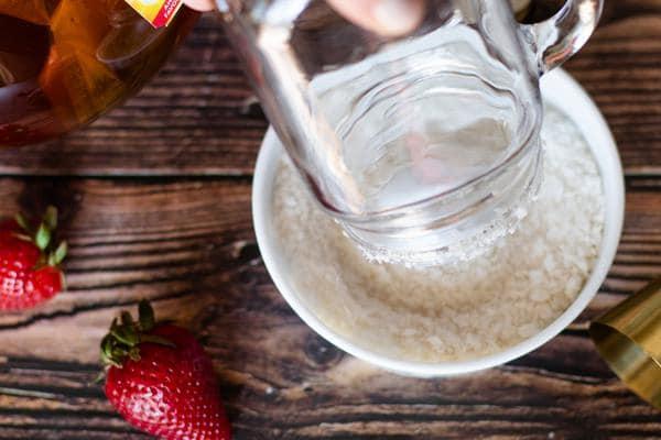 Alcohol Drinks Strawberry Tea Margarita
