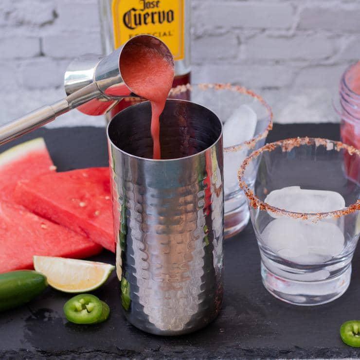 Alcohol Drinks Watermelon Jalapeno Margarita