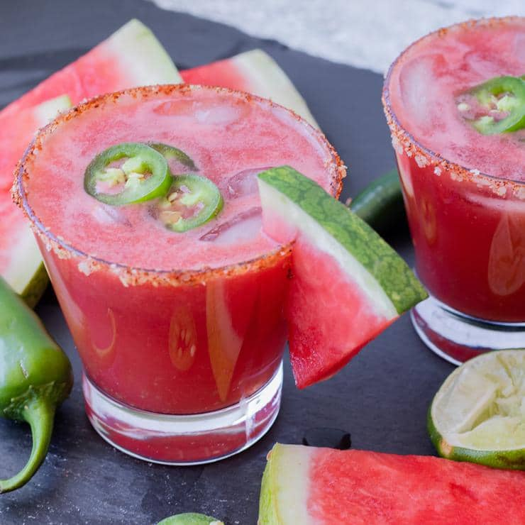 Alcoholic Drinks – BEST Watermelon Jalapeno Recipe – Easy and Simple Margarita On The Rocks – How To Make Homemade Margarita
