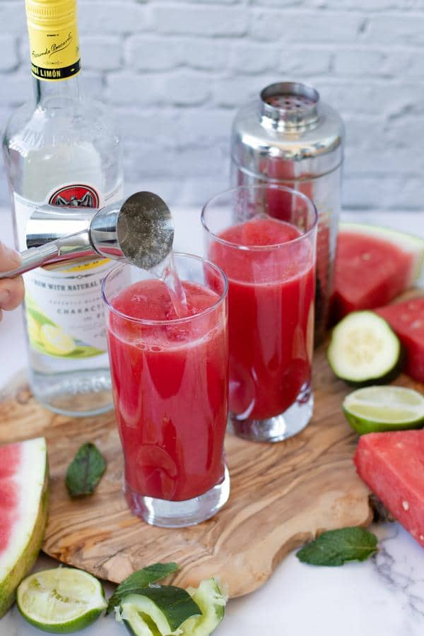 Alcohol Drinks Watermelon Mojito