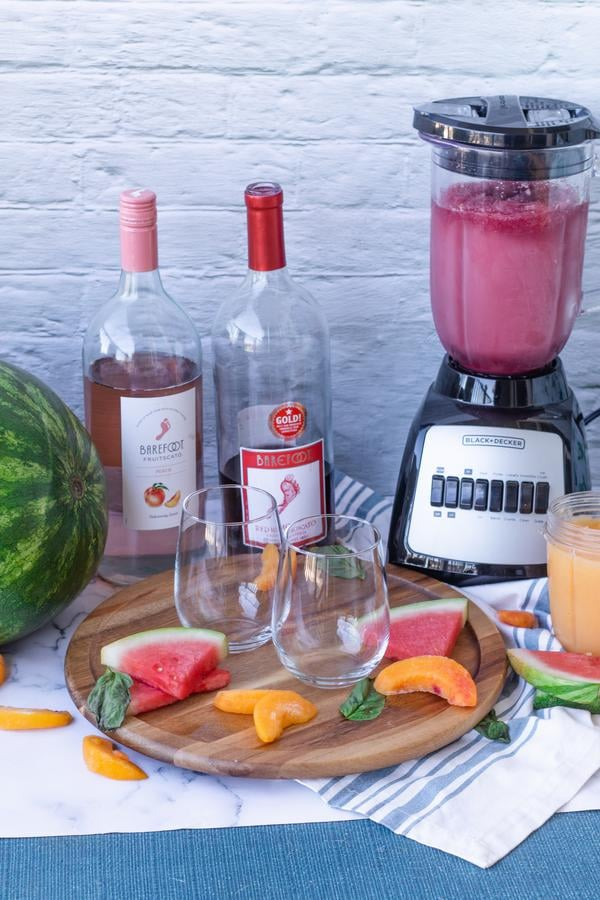Wine Slushie Recipe! Easy Wine Slushie – How To Make Quick and Healthy Watermelon Peach Alcohol Wine Slushies - Red Wine - White Wine Frozen Slushie