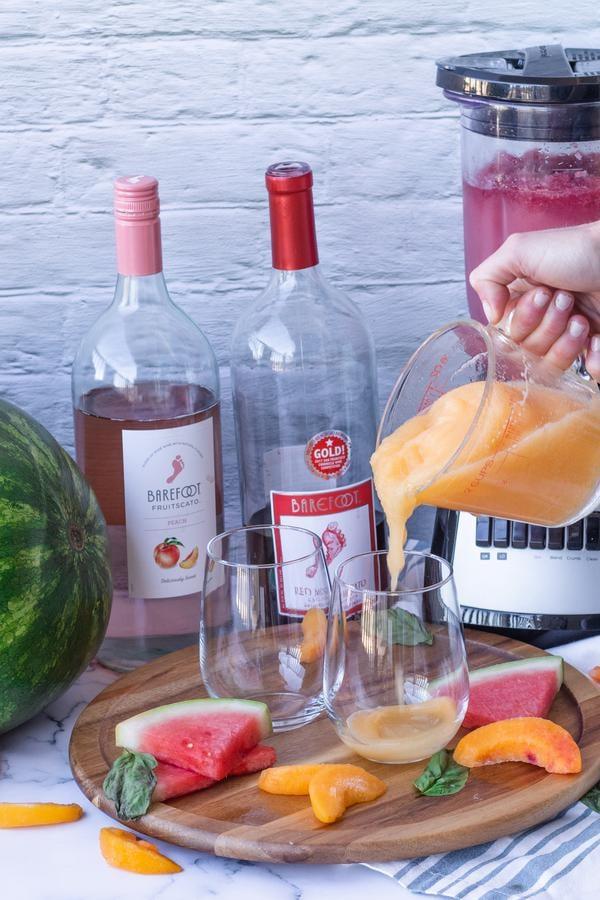 Alcohol Drinks Watermelon Peach Wine Slushie