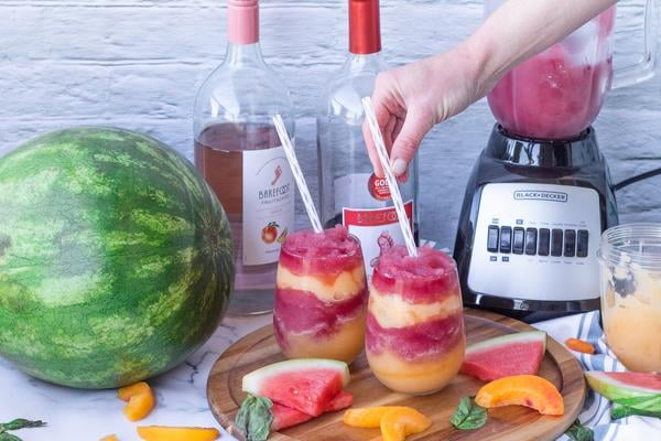 Alcohol Drinks Watermelon Peach Wine Slushie