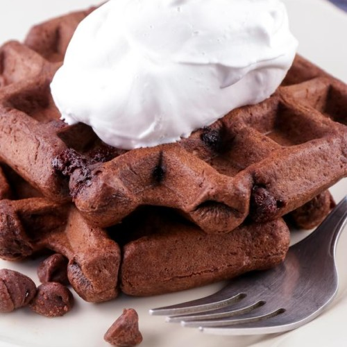 Easy Waffles – Best Homemade Chocolate Brownie Waffle Recipe – {Easy} Breakfast – Snacks – Desserts – Quick – Simple