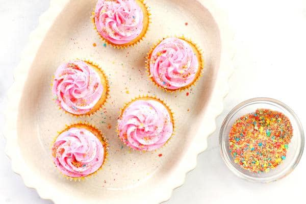 Cereal Fruity Pebbles Cupcakes