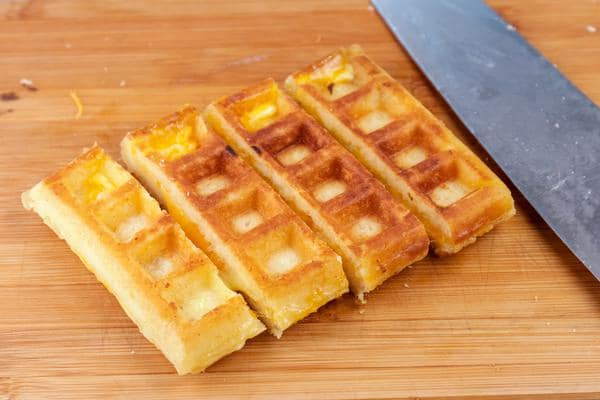 Grilled Cheese Waffle Sticks