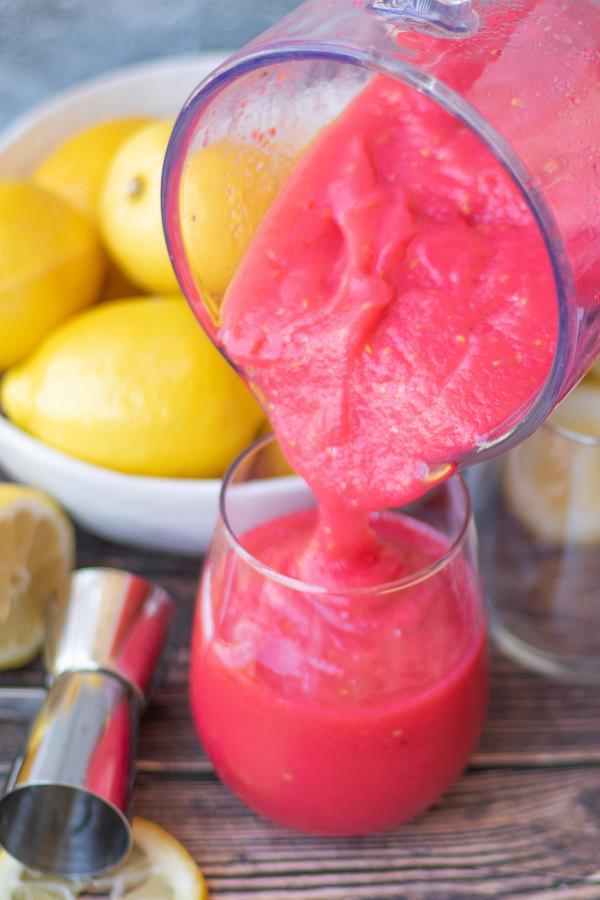 Alcohol Drinks Pink Lemonade Wine Slushie