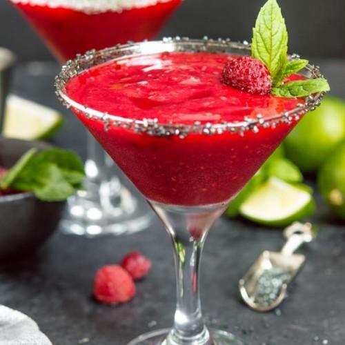 Alcoholic Drinks – BEST Raspberry Margarita Recipe – Easy and Simple Frozen Blended Margarita - How To Make Homemade Margarita