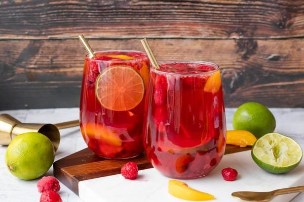Alcoholic Drinks – BEST Raspberry Margarita Punch Recipe – Easy and Simple Cocktail – How To Make Homemade Alcohol Cocktails
