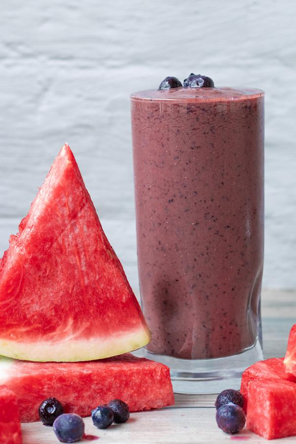 Smoothie – Best Homemade Blueberry Watermelon Smoothie Recipe – {Easy} Breakfast – Snacks – Desserts – Quick – Simple - Healthy