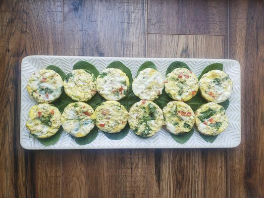 BEST Keto Egg Bites – Low Carb Keto Breakfast Mini Egg Bites Recipe – Easy Ketogenic Diet Idea