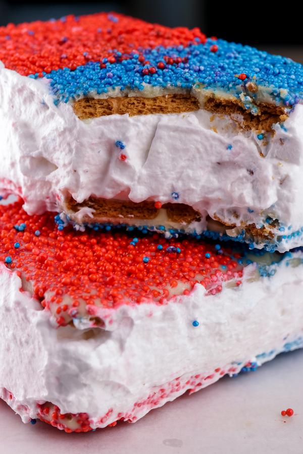 Ice Cream Sandwich – Best Homemade Ice Cream Sandwich Recipe – 4th Of July Food - Patriotic {Easy} – Snacks – Desserts – Party Food – Quick – Simple
