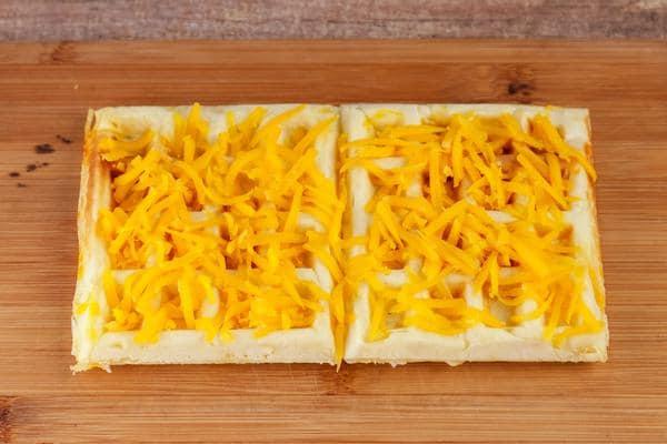 Waffle Garlic Cheese Bread Sticks