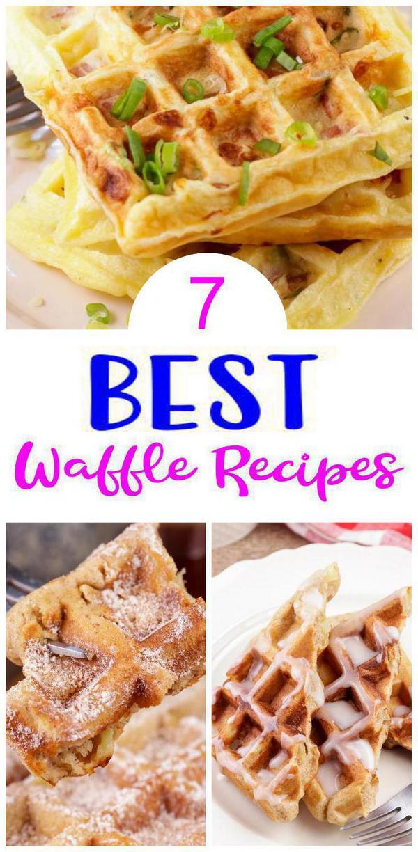 7 Waffle Recipes – BEST Waffle Maker Ideas – Easy Snacks – Breakfast – Desserts – Snacks