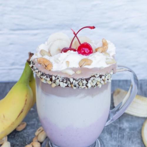 Milkshake – BEST Banana Split Milkshake Recipe – Easy and Simple Frozen Shake – How To Make Milkshake – Snacks – Desserts - Party Food