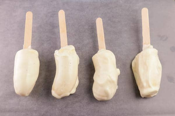 Frozen Banana Yogurt Pops