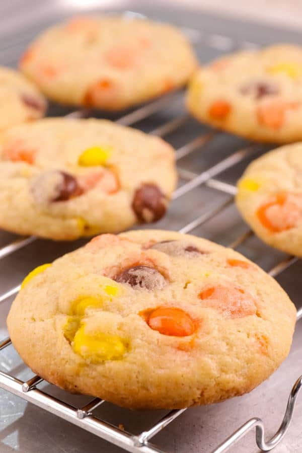 Gluten Free Reeses Pieces Cookies
