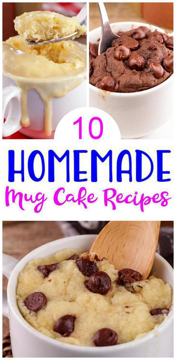 10 Mug Cake Recipes – BEST Cakes In A Mug Ideas – Easy Snacks – Breakfast – Desserts – Snacks