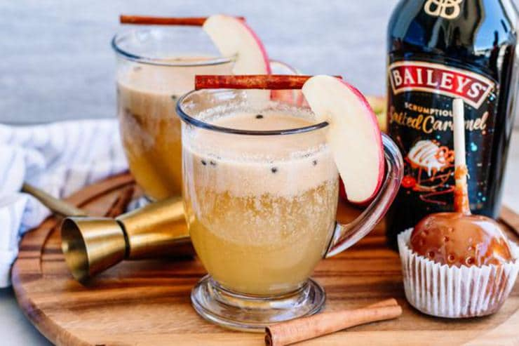 Alcoholic Drinks – BEST Baileys Spiked Caramel Apple Cider Recipe – Easy and Simple Fall Cocktail – How To Make Homemade Alcohol Cocktails