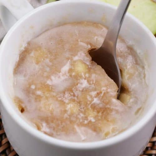 Apple Fritter Mug Cake! BEST Apple Fritter Cake In A Mug Recipe – Quick & Easy 2 Minute Microwave Idea