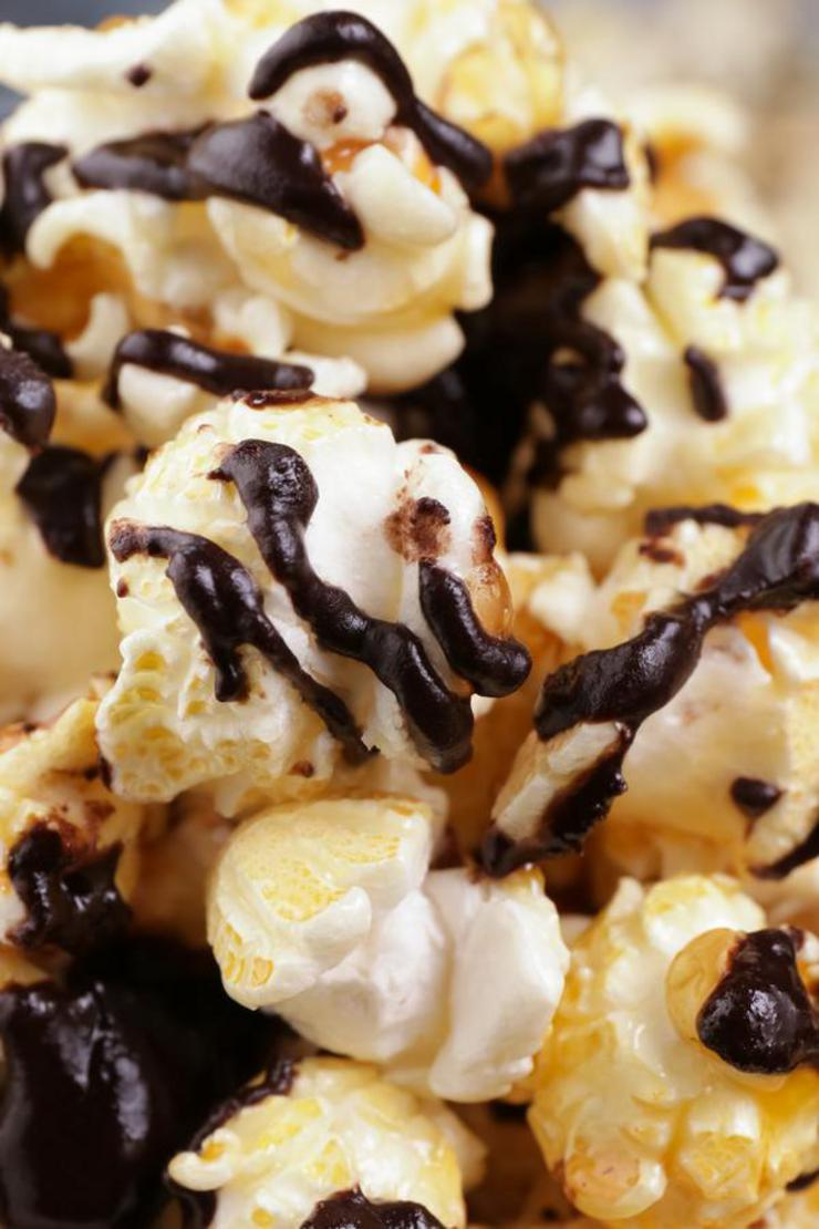 Caramel Popcorn – EASY – Quick – Simple Chocolate Caramel Popcorn Recipe – BEST Homemade Microwave Popcorn – How To Make – Quick – Desserts – Snacks – Party Food