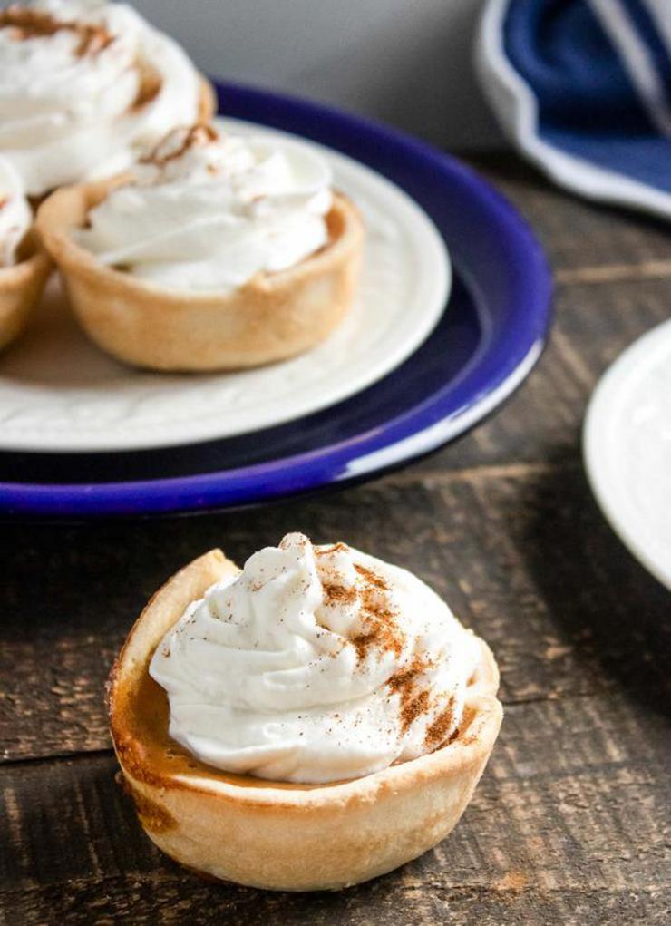 Easy Mini Pumpkin Pies – Best Homemade Pumpkin Pie Recipe – {Easy} Fall Recipes – Snacks – Desserts – Quick – Simple