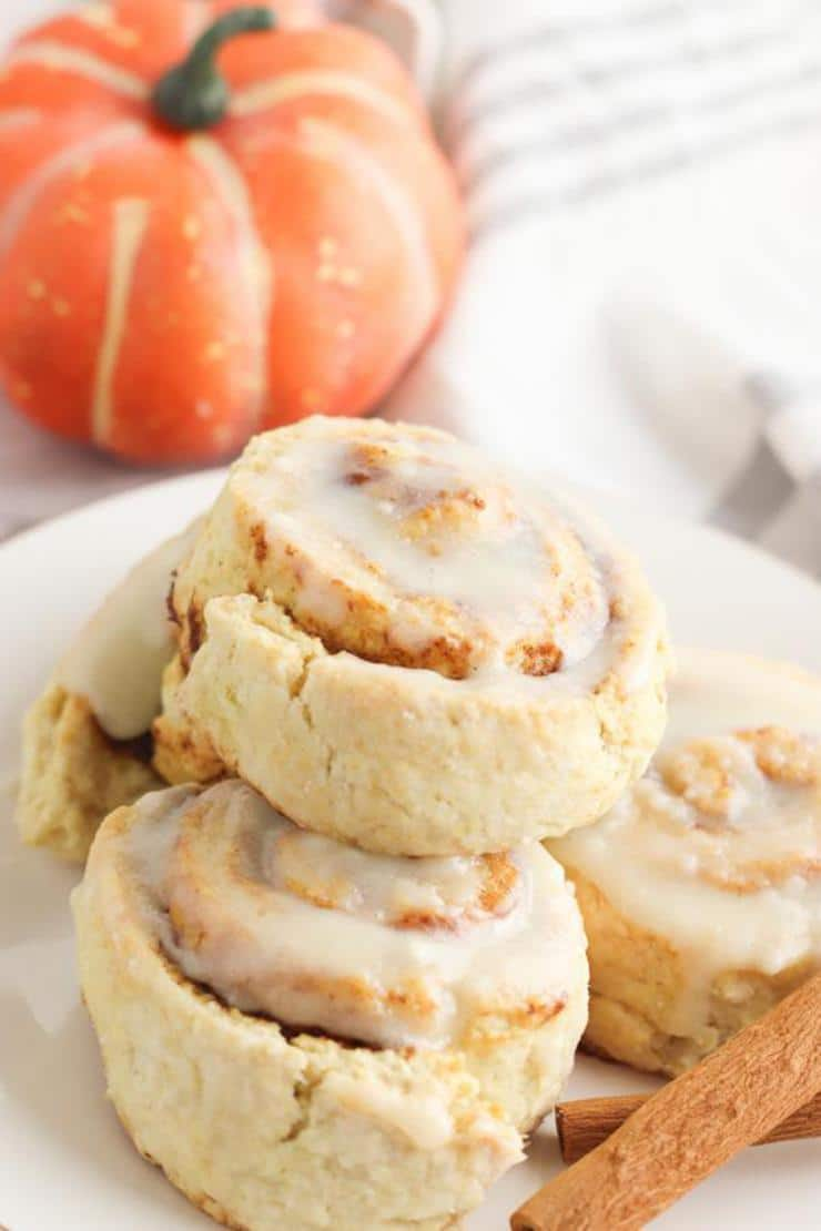 Easy Pumpkin Cinnamon Rolls – Best Homemade Pumpkin Cinnamon Roll Recipe – {Easy} Fall Recipes - Breakfast – Snacks – Desserts – Quick – Simple