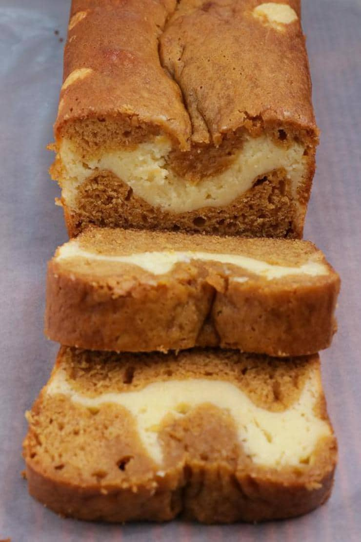 Easy Pumpkin Bread – Best Homemade Pumpkin Cream Cheese Bread Recipe – {Easy} Fall Recipes - Breakfast – Snacks – Desserts – Quick – Simple