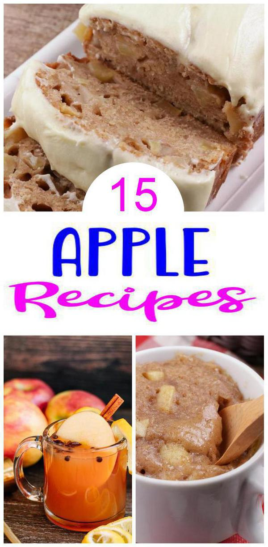 15 Apple Recipes – BEST Apple Food Ideas – Easy Desserts - Breakfast - Snacks - Drinks