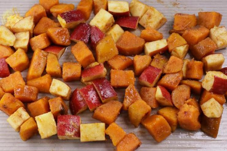 Apple Cinnamon Roasted Sweet Potatoes
