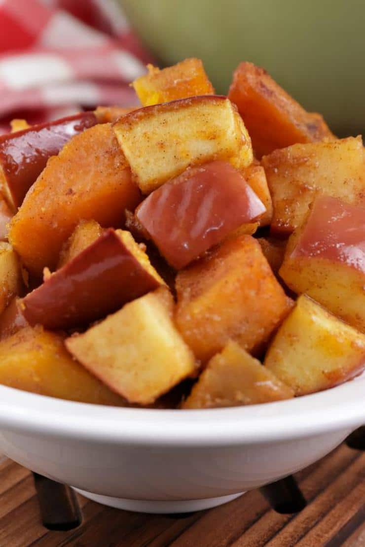 Apple Cinnamon Roasted Sweet Potatoes! Roasted Sweet Potato Recipe – Best – Appetizer – Side Dish – How To Make