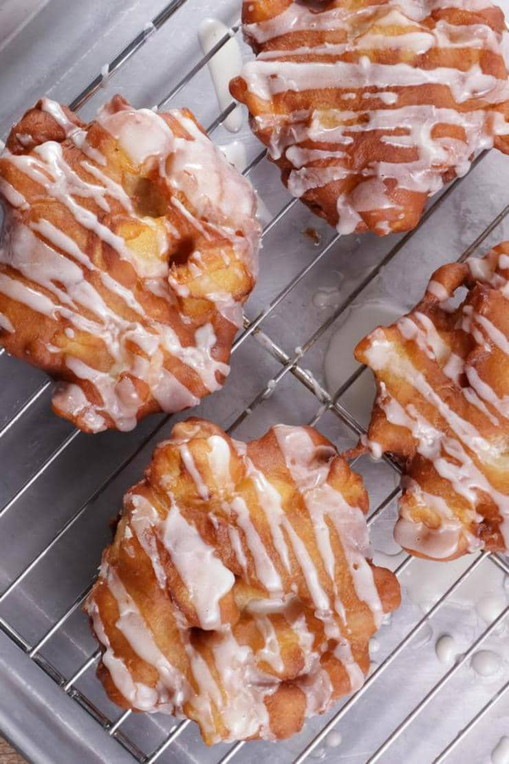Easy Apple Fritters – Best Homemade Apple Fritter Recipe – {Easy} Recipes – Snacks – Desserts – Breakfast – Quick – Simple