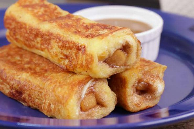 Easy Apple Pie French Toast Roll Ups – Best Homemade Apple Pie Recipe – {Easy} Recipes – Snacks – Desserts – Breakfast – Quick – Simple