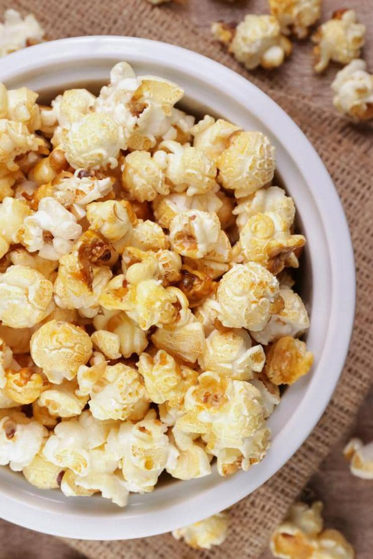 Caramel Popcorn – EASY – Quick – Simple Gingerbread Caramel Popcorn Recipe – BEST Homemade Microwave Popcorn – How To Make – Quick – Desserts – Snacks – Party Food