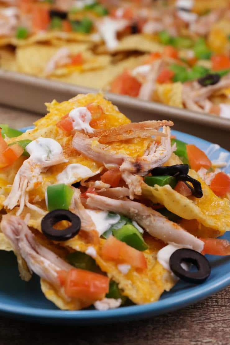 Leftover Turkey Nachos! Leftover Turkey Sheet Pan Nacho Easy Recipe – Best – Appetizers – Snacks – Side Dish – How To Make