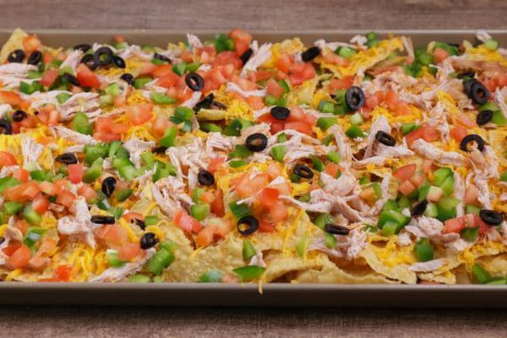 Leftover Turkey Sheet Pan Nachos