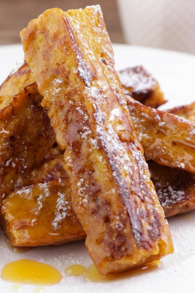 Easy French Toast – {BEST} Homemade Pumpkin French Toast Sticks Recipe