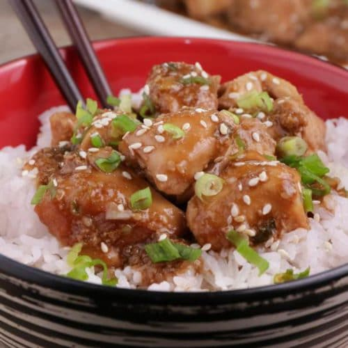 Easy Crockpot Chicken – Best Homemade Teriyaki Chicken Recipe – Slow Cooker Dinner - Lunch – Party Food – Quick – Simple