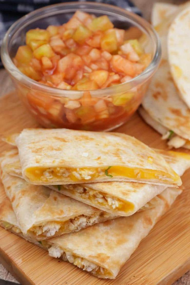 Easy Mini Quesadillas – Best Homemade Chicken Quesadilla Recipe – Finger Food - Appetizers – Snacks - Party Food – Quick – Simple