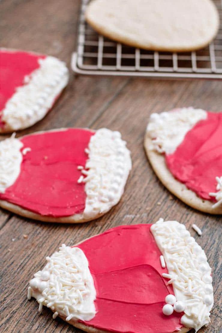 Santa Hat Cookies