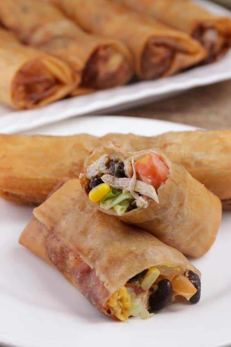 Easy Southwestern Egg Rolls – Best Homemade Egg Roll Recipe – Finger Food - Appetizers – Snacks - Party Food – Quick – Simple