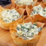 Easy Spinach Artichoke Wonton Cups – Best Homemade Spinach Artichoke Recipe – Finger Food – Appetizers – Snacks – Party Food – Quick – Simple