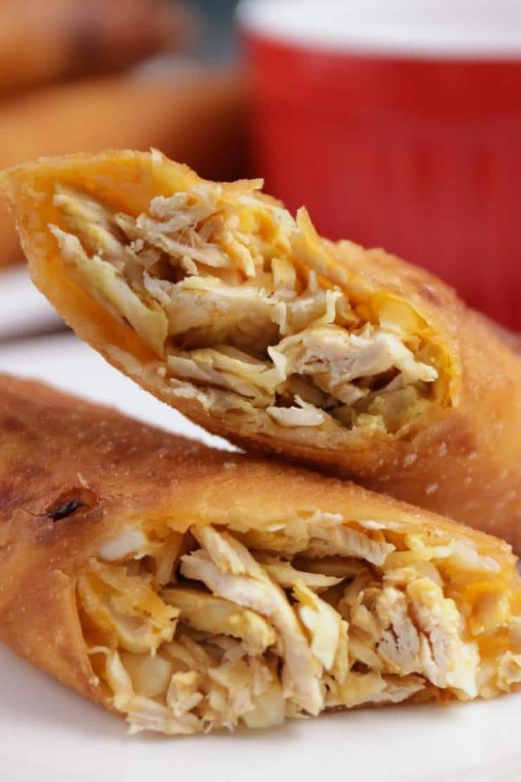 Easy Buffalo Chicken Egg Rolls – Best Homemade Egg Roll Recipe – Finger Food - Appetizers – Snacks - Party Food – Quick – Simple